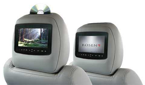 Rosen Headrest Monitor DVD Systems for Range Rover, Audi, BMW and Mercedes